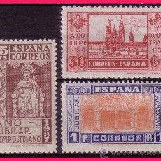 Sellos: 1937 AÑO JUBILAR COMPOSTELANO, EDIFIL Nº 833 A 835 *. Lote 32470860