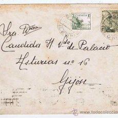 Sellos: FRANCO CIRCULADO 1949 DE ASTORGA LEON A GIJON ASTURIAS. Lote 32929708