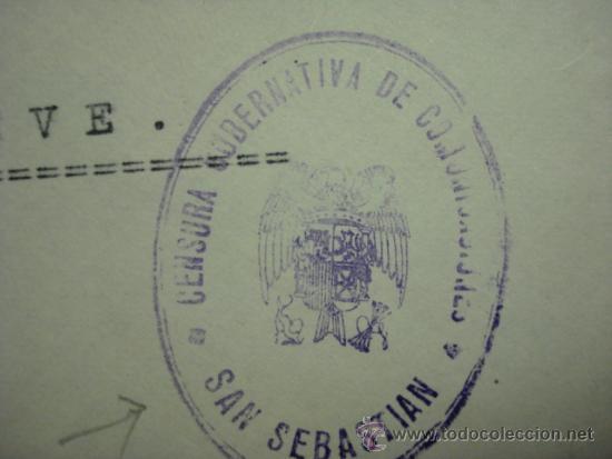 Sellos: COMITE INTERNACIONAL DE LA CRUZ ROJA - RARA CARTA CON CENSURA SAN SEBASTIAN - Foto 2 - 33960261