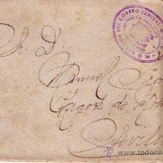 Sellos: CARTA CIRCULADA MADRID SEVILLA CON FRANQUICIA CARTERIA DEL CORREO CENTRAL - REV. SELLO MUTUALIDAD . Lote 34707569