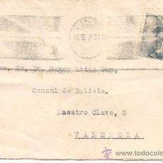 Sellos: CARTA CONSULADO BOLIVIA VALENCIA. Lote 35399300