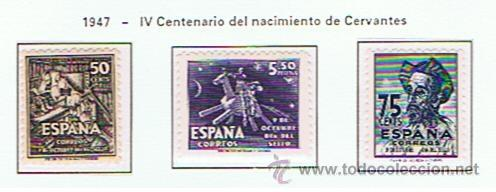 CENTENARIO DE CERVANTES 1947 EDIFIL 1012-4 NUEVOS** SERIE COMPLETA (Sellos - España - Estado Español - De 1.936 a 1.949 - Nuevos)