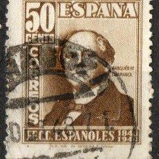 Sellos: 1037 50 CENTIMOS MARQUES DE SALAMANCA / CENTENARIO DEL FERROCARRIL. Lote 35627771