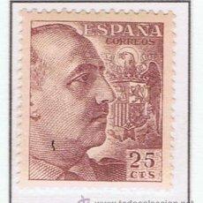 Sellos: FRANCO 1949 EDIFIL 1048 NUEVO**. Lote 173300682