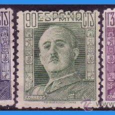 Sellos: 1946 GENERAL FRANCO, EDIFIL Nº 999 A 1001 (*). Lote 35830011