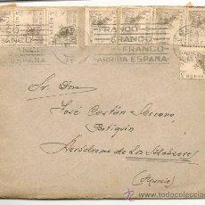 Sellos: MURCIA -SOBRE CON SELLOS - 1943. Lote 35831577