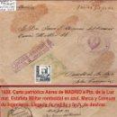Sellos: 1938.-CARTA CON 1 SELLO DE ISABEL, AVION DE MADRID A PTO. DE LA LUZ. MARCAS JEFATURA DE INGENIEROS. Lote 35861309
