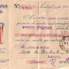 Sellos: MADRID. 1946. LETRA DE CAMBIO PUBLICITARIA REINTEGRADA CON SELLO FISCAL. MAGNÍFICA.. Lote 36047413