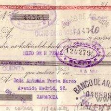 Sellos: ELCHE (ALICANTE). 1943. LETRA DE CAMBIO DE FALANGE REINTEGRADA CON SEIS SELLOS FISCALES. MAGNÍFICA.. Lote 36048318