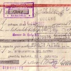 Sellos: SABADELL (BARCELONA). 1943. LETRA DE CAMBIO DE FALANGE REINTEGRADA CON SELLO FISCAL. MAGNÍFICA.. Lote 36048574