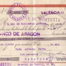 Sellos: VALENCIA. 1942. LETRA DE CAMBIO DE FALANGE REINTEGRADA CON SELLOS FISCALES. MAGNÍFICA.. Lote 36048819