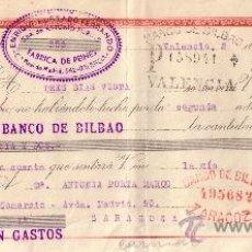 Sellos: VALENCIA. 1943. LETRA DE CAMBIO DE FALANGE REINTEGRADA CON SELLO FISCAL. MAGNÍFICA.. Lote 36056657
