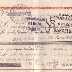 Sellos: BARCELONA. 1943. LETRA DE CAMBIO DE FALANGE. MAGNÍFICA.. Lote 36057022