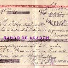 Sellos: VALENCIA. 1943. LETRA DE CAMBIO DE FALANGE REINTEGRADA CON SELLO FISCAL. MAGNÍFICA.. Lote 36057263