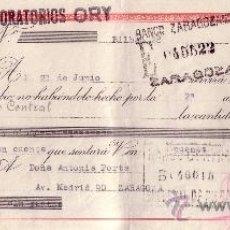 Sellos: BILBAO. 1945. LETRA DE CAMBIO DE FALANGE REINTEGRADA CON SELLO FISCAL. MAGNÍFICA.. Lote 36057597