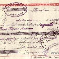 Sellos: BARCELONA. 1946. LETRA DE CAMBIO DE FALANGE REINTEGRADA CON DOS SELLOS FISCALES. MAGNÍFICA.. Lote 36070667