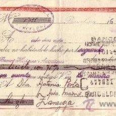 Sellos: BARCELONA. 1946. LETRA DE CAMBIO DE FALANGE REINTEGRADA CON SELLO FISCAL. MAGNÍFICA.. Lote 36070992