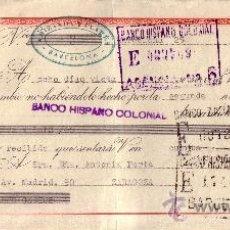 Sellos: BARCELONA. 1946. LETRA DE CAMBIO DE FALANGE REINTEGRADA CON SELLO FISCAL. MAGNÍFICA.. Lote 36071295