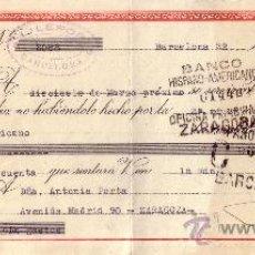 Sellos: BARCELONA. 1945. LETRA DE CAMBIO DE FALANGE REINTEGRADA CON SELLO FISCAL. MAGNÍFICA.. Lote 36071811