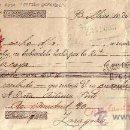 Sellos: BILBAO. 1941. LETRA DE CAMBIO CON SOBRECARGA ROJA ESTADO ESPAÑOL. REINTEGRADA CON FISCAL. MAGNÍFICA.. Lote 36087433