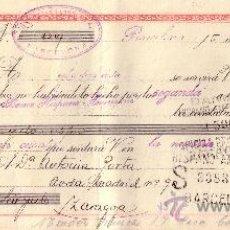 Sellos: BARCELONA. 1944. LETRA DE CAMBIO DE FALANGE REINTEGRADA CON SELLO FISCAL. MAGNÍFICA.. Lote 36124564