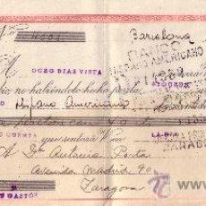 Sellos: BARCELONA. 1945. LETRA DE CAMBIO DE FALANGE REINTEGRADA CON SELLO FISCAL. MAGNÍFICA.. Lote 36128240