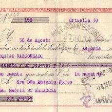 Sellos: ORTUELLA (VIZCAYA). 1944. LETRA DE CAMBIO DE FALANGE REINTEGRADA CON SELLO FISCAL. MAGNÍFICA.. Lote 36129362