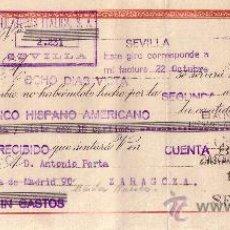 Sellos: SEVILLA. 1942. LETRA DE CAMBIO DE FALANGE REINTEGRADA CON SELLO FISCAL. MAGNÍFICA.. Lote 36141356
