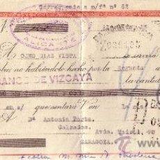 Sellos: ALICANTE. 1943. LETRA DE CAMBIO DE FALANGE REINTEGRADA CON SELLO FISCAL. MUY BONITA.. Lote 36141641