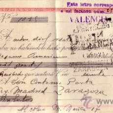 Sellos: VALENCIA. 1944. LETRA DE CAMBIO DE FALANGE REINTEGRADA CON SELLO FISCAL. MAGNÍFICA.. Lote 36142297