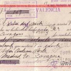 Sellos: VALENCIA. 1942. LETRA DE CAMBIO DE FALANGE REINTEGRADA CON SELLO FISCAL. MAGNÍFICA.. Lote 36142625