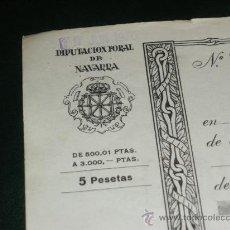 Sellos: DIPUTACION FORAL DE NAVARRA, 5 PESETAS. FISCAL, LETRA.. Lote 36295582