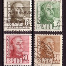 Sellos: ESPAÑA 1020/23 - AÑO 1948 - GENERAL FRANCO. Lote 36446746