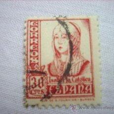 Sellos: EDIFIL 823 ISABEL 1937 30 CENTIMOS PESETA USADO. Lote 36749051