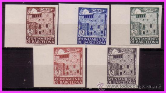 BARCELONA 1943 CASA PADELLAS, EDIFIL Nº 42S A 46S (*) (Sellos - España - Estado Español - De 1.936 a 1.949 - Nuevos)