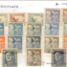 Sellos: SELLOS NUEVOS PRIMER CENTENARIO ESPAÑA - 1949-1953 CID Y GENERAL FRANCO 1044-1061. Lote 37608690