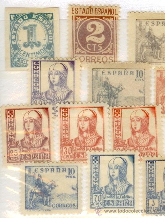 Sellos: Sellos nuevos Primer Centenario España - 1937-1940 Cifras Cid Isabel la Católica 814-831 - Foto 2 - 37574839