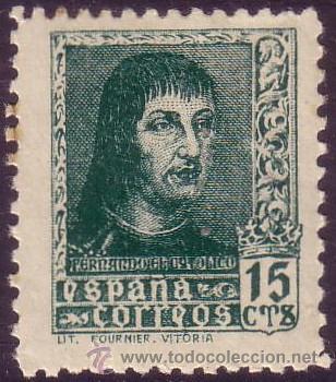 ESPAÑA. (CAT. 841A). ** 15 CTS. FERNANDO EL CATÓLICO. MUY BONITO. (Sellos - España - Estado Español - De 1.936 a 1.949 - Nuevos)