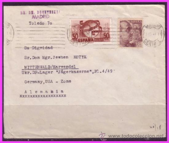 Carta Madrid A Alemania 1949 75 Aniversario D Comprar Sellos
