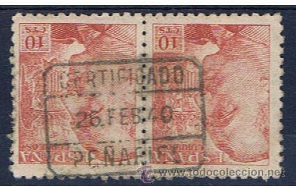 FRANCO DUO 1940 EDIFIL 920 FECHADOR PEÑAFIEL (Sellos - España - Estado Español - De 1.936 a 1.949 - Usados)