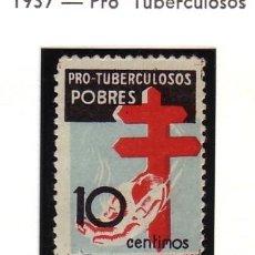 Francobolli: ESPAÑA 840 - PRO TUBERCULOSOS. 10 C. 1937. USADO LUJO. CAT. 5€.. Lote 38831354