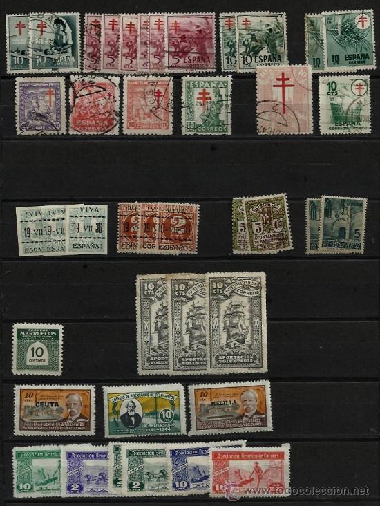 SELLOS ESPAÑA TUBERCULOSIS BARCELONA BENÉFICOS CORREOS REPÚBLICA ESTADOS ESPAÑOL SOBRECARGA 1936 -50 (Sellos - España - Estado Español - De 1.936 a 1.949 - Usados)