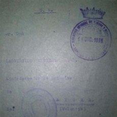 Sellos: SOBRE CON FRANQUICIA DE LA DIRECCION GENERAL DE TIMBRE Y MONOPOLIOS 1939 AYORA VALENCIA. Lote 39333727