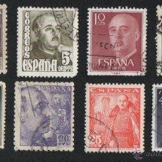 Sellos: 33 SELLOS DE ESPAÑA, FRANCO 5 CTS, 10 CTS, 15 CTS, 35 CTS, 6 PTA. ( USADOS ) VER FOTOS ADICIONALES. Lote 39657305