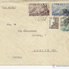 Sellos: BARCELONA CC CORREO AEREO MAT HEXAGONAL A ZURICH AL DORSO MARCA CENSURA. Lote 39852570