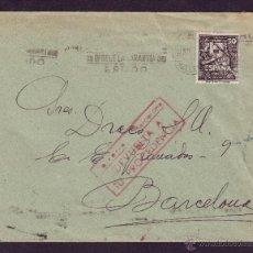Sellos: ESPAÑA. (CAT. 1012).1947. SOBRE DE PALMA (BALEARES) A BARCELONA. CORREO DEVUELTO. MUY RARA.. Lote 23867346