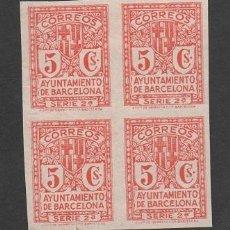 Sellos: 10- AYUNTAMIENTO DE BARCELONA - EDIFIL Nº 10EFS VARIEDAD UNICOLOR - ROJO - NO CATALOGADO - SIN GOMA . Lote 40171433