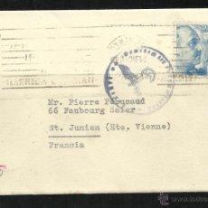 Sellos: 1940 - ESPAÑA - CARTA A FRANCIA ZONA OCUPADA - CENSURA ALEMANA. Lote 40666666