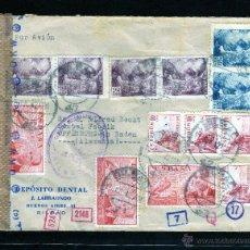 Sellos: CARTA COMERCIAL DE BILBAO A ALEMANIA POR AVION 1942, CENSURA GUBERNATIVA DE COMUNICACIONES Y ALEMANA. Lote 40666865