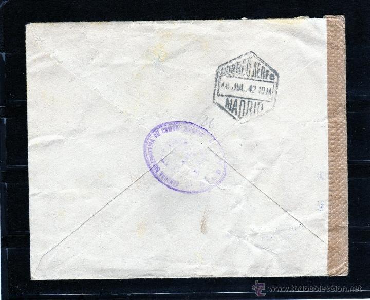 Sellos: CARTA COMERCIAL DE BILBAO A ALEMANIA POR AVION 1942, CENSURA GUBERNATIVA DE COMUNICACIONES Y ALEMANA - Foto 2 - 40666865
